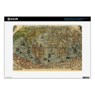1565 Ferando Berteli (Fernando Bertelli) World Map Samsung Chromebook Decals