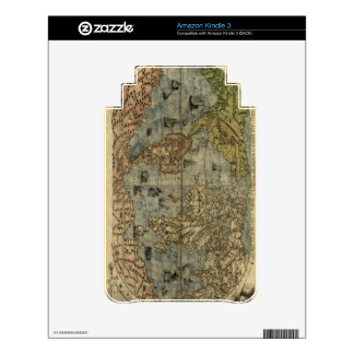 1565 Ferando Berteli (Fernando Bertelli) World Map Decals For The Kindle 3