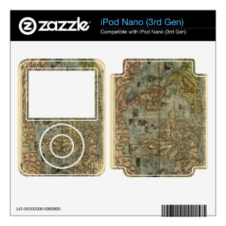 1565 Ferando Berteli (Fernando Bertelli) World Map Decals For iPod Nano 3G