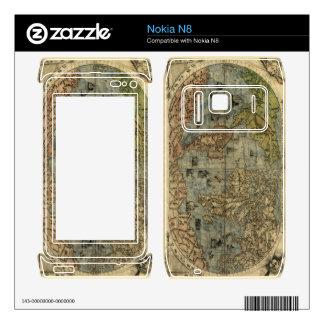 1565 Ferando Berteli (Fernando Bertelli) World Map Decals For Nokia N8