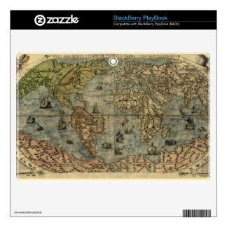 1565 Ferando Berteli (Fernando Bertelli) World Map BlackBerry Skins