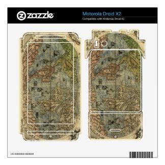 1565 Ferando Berteli (Fernando Bertelli) World Map Motorola Droid X2 Decals