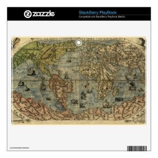 1565 Ferando Berteli (Fernando Bertelli) World Map Skin For BlackBerry