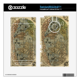 1565 Ferando Berteli (Fernando Bertelli) World Map Skin For Toshiba REGZA