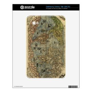 1565 Ferando Berteli (Fernando Bertelli) World Map Samsung Galaxy Tab Decal