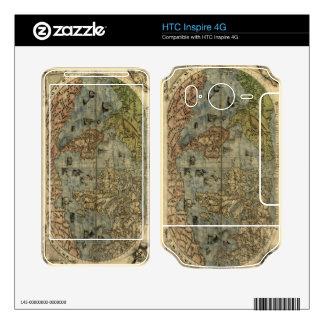 1565 Ferando Berteli (Fernando Bertelli) World Map Skin For HTC Inspire 4G