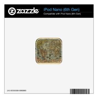 1565 Ferando Berteli (Fernando Bertelli) World Map Skin For The iPod Nano 6G