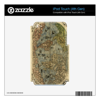 1565 Ferando Berteli (Fernando Bertelli) World Map iPod Touch 4G Decal