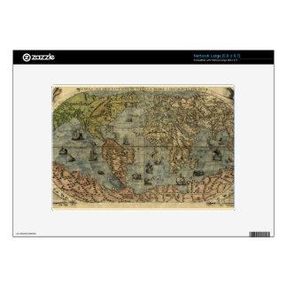 1565 Ferando Berteli (Fernando Bertelli) World Map Decal For Large Netbook