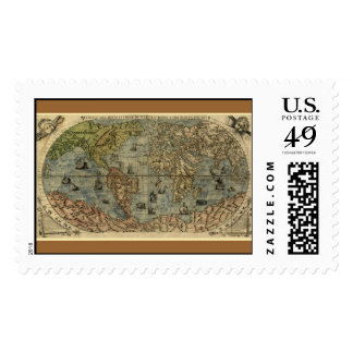 1565 Ferando Berteli (Fernando Bertelli) World Map Stamp