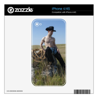15693-RA Cowboy Decals For iPhone 4