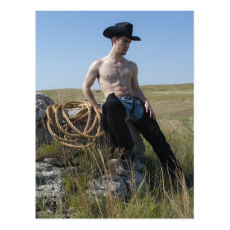 15693-RA Cowboy Postcard