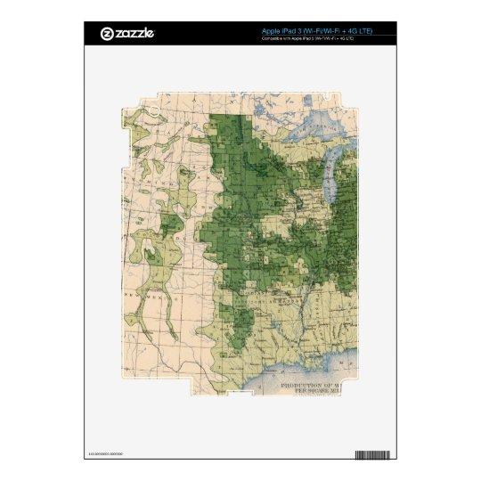 156 Wheat/sq mile Skins For iPad 3