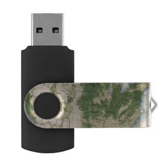 156 Wheat/sq mile Swivel USB 2.0 Flash Drive