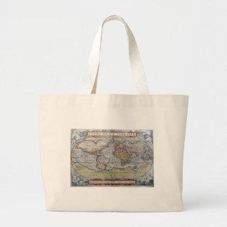 1572 Typus Orbis Terrarum Ortelius World Map Bag