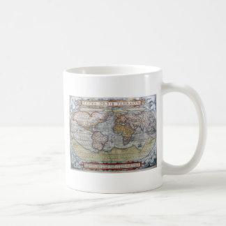 1572 Typus Orbis Terrarum Ortelius World Map Coffee Mug