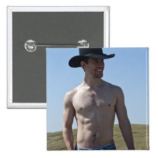 15746-RA Cowboy Pinback Button