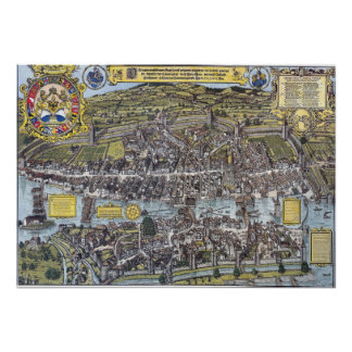1576 Map of Zürich Poster