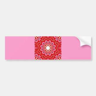 157 RED WHITE PINK LACE SNOWFLAKE PATTERN DIGITAL BUMPER STICKERS