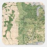 157 trigo/acre calcomanías cuadradass personalizadas