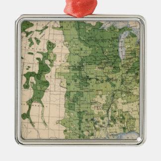 157 Wheat/acre Metal Ornament