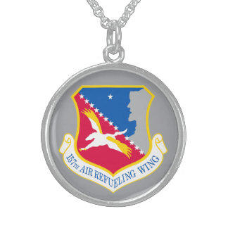 157th Air Refueling Wing, New Hampshire ANG Sterling Silver Necklace