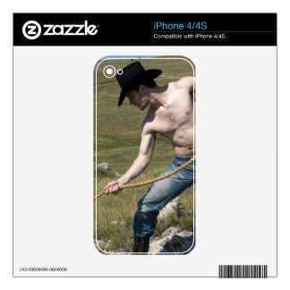 15807-RA Cowboy iPhone 4S Decal
