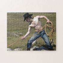 15807-RA Cowboy Jigsaw Puzzle