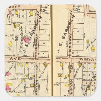 158159 New Rochelle Square Sticker