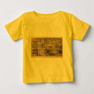 1581 Antique World Map by Nicola van Sype Baby T-Shirt