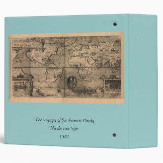 1581 Antique World Map by Nicola van Sype Binders