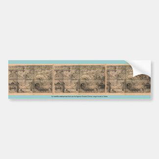 1581 Antique World Map by Nicola van Sype Bumper Sticker