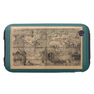 1581 Antique World Map by Nicola van Sype iPhone 3 Tough Case