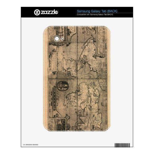 1581 Antique World Map by Nicola van Sype Samsung Galaxy Tab Decal
