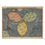 1581 World Map Posters