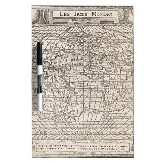 1582 Antique World Map Dry-Erase Boards