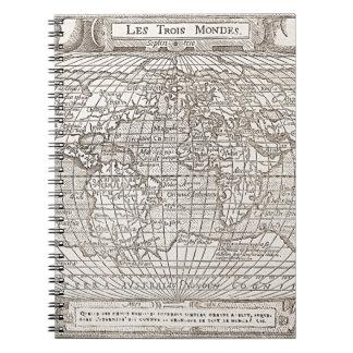 1582 Antique World Map Notebooks