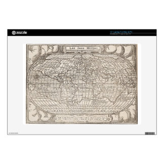 1582, Antique World Map Decals For Laptops