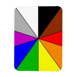 15831 COLORFUL COLOR WHEEL TRIANGLES SHAPES PATTER MAGNET