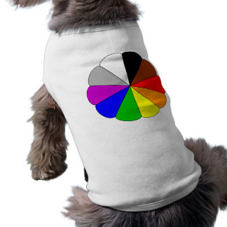 15831 COLORFUL COLOR WHEEL TRIANGLES SHAPES PATTER T-Shirt