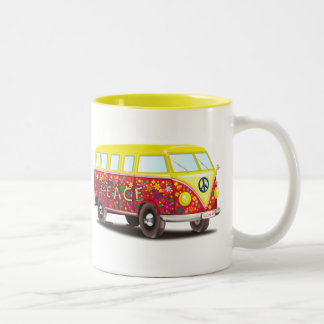 158463 CAUSES PEACEABLE SURF SUMMER car bus mobile Two-Tone Coffee Mug