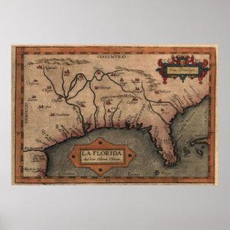 1584 La Florida Map Canvas Print