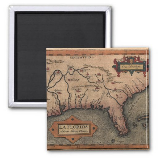 1584 La Florida Map Magnet