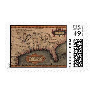 1584 La Florida Map Postage Stamps