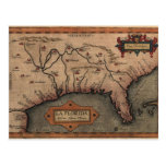 1584 La Florida Map Postcard