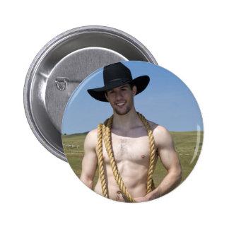 15867-RA Cowboy Pinback Button