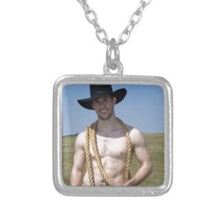 15867-RA Cowboy Silver Plated Necklace