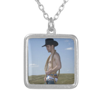 15876-RA Cowboy Silver Plated Necklace