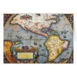 1587 Map of the Americas Greeting Card