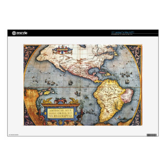 1587 Map of the Americas Laptop Skins